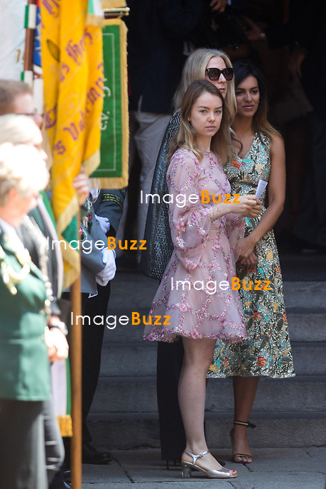 Mariage du Prince Ernst junior de Hanovre et de Ekaterina Malysheva &agrave; l'&eacute;glise Markkirche &agrave; Hanovre.<br /> Allemagne, Hanovre, 8 juillet 2017.<br /> Wedding of Prince Ernst Junior of Hanover and Ekaterina Malysheva at the Markkirche church in Hanover.<br /> Germany, Hanover, 8 july 2017<br /> Pic :  Alexandra of Hanover