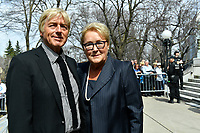 Former PQ Leader Pauline marois<br /> attend Jeanine Sutto funerals, April 10, 2017.<br /> <br /> PHOTO  :  Agence Quebec Presse <br /> <br /> <br /> <br /> <br /> attend Jeanine Sutto funerals, April 10, 2017.<br /> <br /> PHOTO  :  Agence Quebec Presse