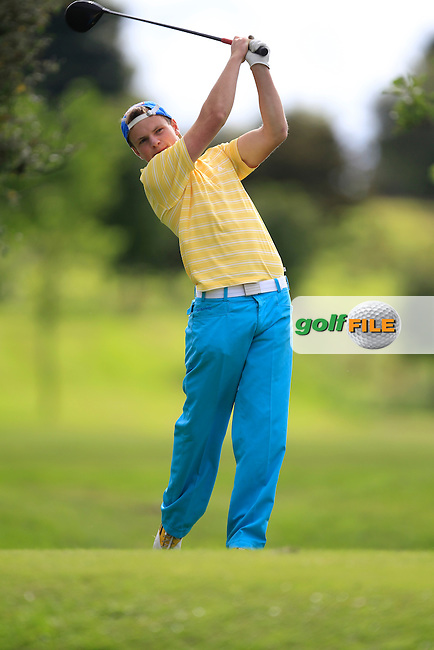 Conor Coyne (Youghal) on the 8th tee during Day 2 of the Irish Youths Amateur Close Championship at Claremorris Golf Club on Thursday 29th August 2013 <br /> Picture:  Thos Caffrey/ www.golffile.ie