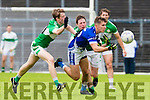 John Feguson KOR gets the ball away from Donal Lyne Legion during their SFC clash in Fitzgerald Stadium on Sunday