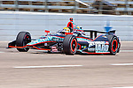 JR Hildebrand (4) driver for Panther Racing in action during qualifying for the IZOD Indycar Firestone 550 race at Texas Motor Speedway in Fort Worth,Texas.