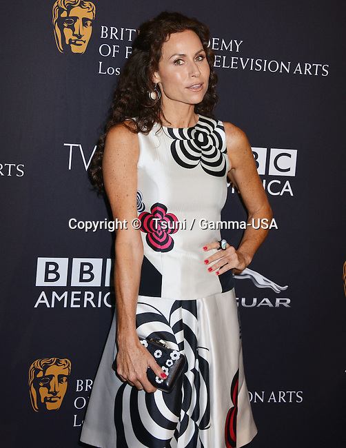 Minnie Driver at the British Academy Of Film and Television Arts at SLS Hotel in Los Angeles.