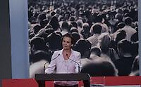 ATENCAO EDITOR FOTO EMBARGADA PARA VEICULO INTERNACIONAL - SAO PAULO, SP , 24 DE SETEMBRO 2012 - DEBATE TV GAZETA -Jornalista e mediadora Maria Lidia durante debate do primeiro turno da tv Gazeta na noite desta segunda-feira, 24 na sede da tv na avenida Paulista. FOTO: VANESSA CARVALHO / BRAZIL PHOTO PRESS.