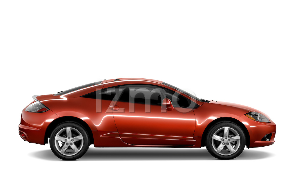 Passenger side profile view of a 2009 Mitsubishi Eclipse GS Coupe.
