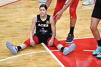 Washington, DC - Sept 17, 2019: Las Vegas Aces guard Kelsey Plum (10) dejected after last second shot attempt is no good during WNBA Playoff semi final game between Las Vegas Aces and Washington Mystics at the Entertainment & Sports Arena in Washington, DC. The Mystics hold on to beat the Aces 97-95. (Photo by Phil Peters/Media Images International)