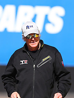 Feb 3, 2016; Chandler, AZ, USA; NHRA top fuel dragster crew chief Richard Hogan for Steve Torrence (not pictured) during pre season testing at Wild Horse Pass Motorsports Park. Mandatory Credit: Mark J. Rebilas-USA TODAY Sports
