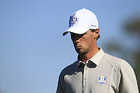 Thomas Pieters (BEL) (Team Europe) heading for the 10th tee during Saturday afternoon Fourball at the Ryder Cup, Hazeltine National Golf Club, Chaska, Minnesota, USA.  01/10/2016<br /> Picture: Golffile | Fran Caffrey<br /> <br /> <br /> All photo usage must carry mandatory copyright credit (&copy; Golffile | Fran Caffrey)