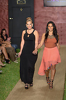 Designer Angelina Petraglia and Monica Silva walk runway at Wet Couture Swimwear Show during Funkshion Fashion Week Miami Beach Swim 2013 at Miami Beach, FL on July 18, 2012