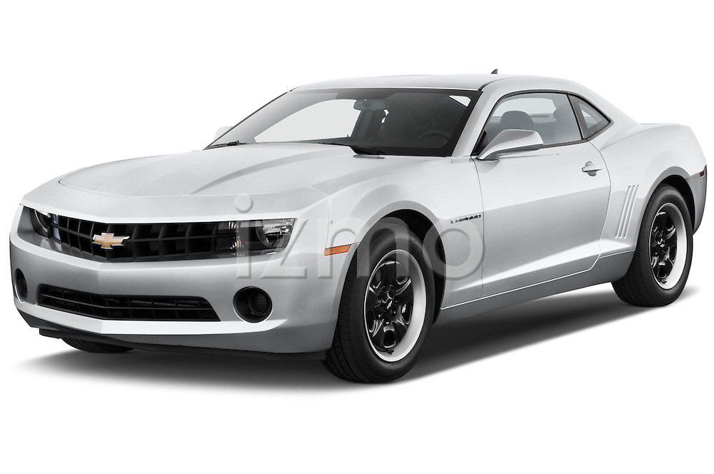 Front three quarter view of a .2013 Chevrolet Camaro Coupe 1LS