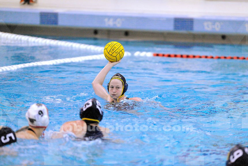 The Michigan women's water polo defeated Brown University 11-9 in their first game of the CWPA Championship in Lewisburg, PA at Bucknell University. April 25, 2014