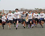 More than 3,000 participants take off running at the world-record breaking 2014 Jersey Shore Kilt Run 2-mile race at the Manasquan beachfront on Sat., March, 22, 2014.