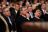 FEBRUARY 5, 2019 - WASHINGTON, DC: Supreme Court Justices John Roberts and Elena Kagan during the State of the Union address at the Capitol in Washington, DC on February 5, 2019. Photo Credit: Doug Mills/CNP/AdMedia