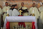 Jordan Valley, the Custos of the Holy Land Fr. Pierbattista Pizzaballa presides over the Baptism of the Lord ceremony in Qasr al Yahud by the Jordan river