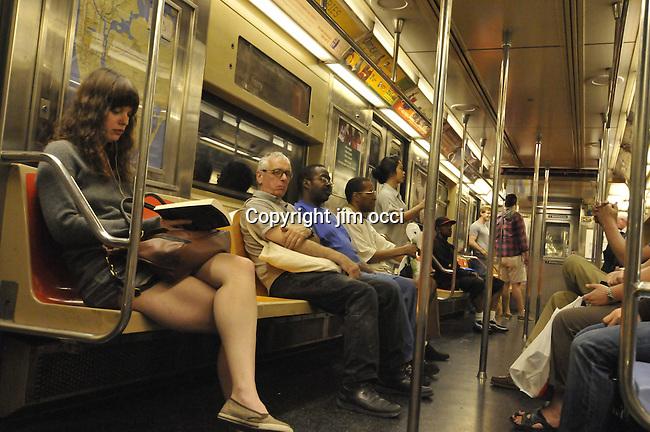 subway shots NYC Subway, new york subway, number 7 train, number 2 train, strap hangers, Willets point, Shea stadium, subway station