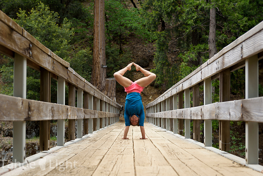 Cyrus and Keisha aero yoga by Yuba River