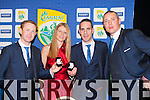 Kerry Players Colm Cooper, Declan O'sulllivan and Kieran Donaghy with jeweller Heather O'Sullivan Tralee who designed The All Ireland medal ring that was presented to each member of the Kerry team on Friday night
