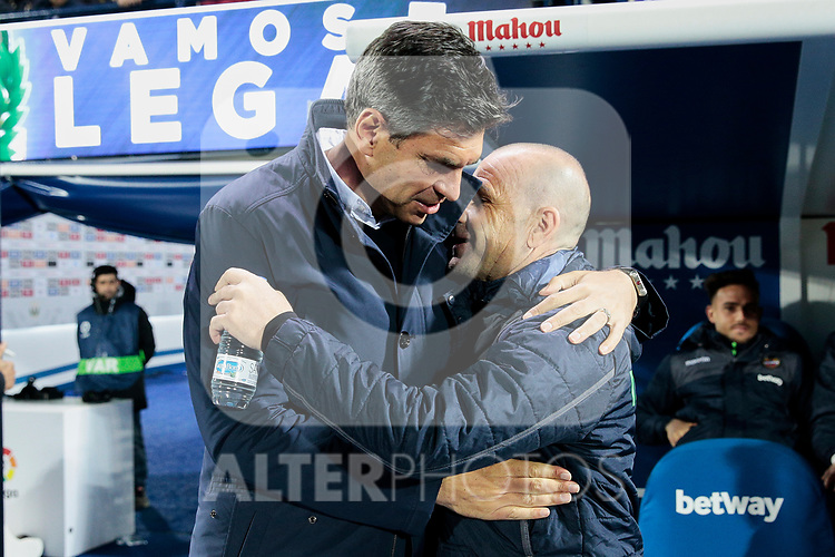 CD Leganes's coach Mauricio Pellegrino and Levante UD's coach Paco Lopez during La Liga match between CD Leganes and Levante UD at Butarque Stadium in Leganes, Spain. March 04, 2019. (ALTERPHOTOS/A. Perez Meca)