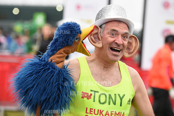 Tony Audenshaw at the start of the 2015 London Marathon, Blackheath Common, Greenwich, London. 26/04/2015 Picture by: Steve Vas / Featureflash