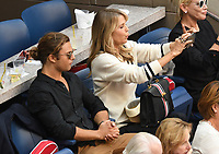 FLUSHING NY- SEPTEMBER 10: Jack Brinkley Cook and Nina Agdal at the US Open Men's Final Championship match at the USTA Billie Jean King National Tennis Center on September 10, 2017 in Flushing, Queens. <br /> CAP/MPI/PAL<br /> &copy;PAL/MPI/Capital Pictures