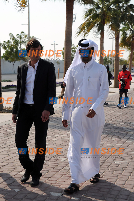 Nasser Al Khelaifi Presidente del PSG et Leonardo Direttore Sportivo  .Doha 3/1/2012 .Allenamento del PSG Paris Saint Germain.Foto Insidefoto / Anthony Bibard / FEP / Panoramic .ITALY ONLY