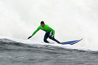 Southern Californian and Mavericks 2008 Champion Greg Long during the first heat of the 2008 Mavericks Contest held at Pillar Point, Half Moon Bay, Calif., Saturday, January 12, 2008.