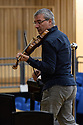 "Saffron Walden, UK. 08.10.2017. English Touring Opera, rehearse onstage, before performing Bach's ""Mass in B Minor"", at Saffron Hall, Saffron Walden, Cambridgeshire. Photograph © Jane Hobson."