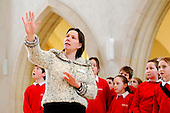 Tour guide at Guildford Cathedral.  Visit by state Junior school..