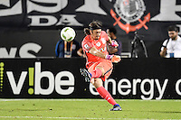 Orlando, FL - Saturday Jan. 21, 2017: Corinthians goalkeeper Cassio Ramos (12) during the first half of the Florida Cup Championship match between São Paulo and Corinthians at Bright House Networks Stadium.