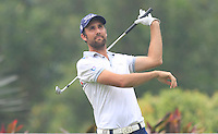 Stephen Lewton (ENG) on the 4th tee during Round 3 of the CIMB Classic in the Kuala Lumpur Golf & Country Club on Saturday 1st November 2014.<br /> Picture:  Thos Caffrey / www.golffile.ie