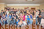 David Conroy, Currow seated center who celebrated his 21st birthday with his family and friends in the Crown Hotel Castleisland on Saturday night..