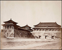 BNPS.co.uk (01202 558833)<br /> Pic: FeliceBeato/BNPS<br /> <br /> ****Please use full byline****<br /> <br /> Emperor's Palace.<br /> <br /> Some of the very first photographs of China that showed the western world what the Far East looked like are tipped to sell for &pound;70,000.<br /> <br /> The photos were shot by renowned photographer Felice Beato who travelled with the British Army during the Indian Rebellion and the Second Opium War in China.<br /> <br /> He captured the Imperial Summer Palace in Beijing before it was destroyed by fire by Empire forces.<br /> <br /> His snaps also include a folding panorama view of Hong Kong harbour, the Forbidden City in Peking, a pagoda and grim images of slain Chinese soldiers at a fort.