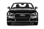 Car photography straight front view of a 2017 Audi A3-Cabriolet Design 2 Door Convertible Front View