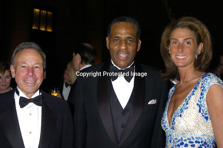 Bob Krissel, Carl McCall and Somers Farkas ..at the 2005 Pen Montblanc Literary Gala at The American Museum of Natural History on April 20, 2005. The Gala honors domestic and international champions of free expression with the Freedom of Expression Awards. ..Photo by Robin Platzer, Twin Images..