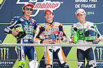 Le Mans GP de France<br /> Monster Energy Grand Prix de France during the world championship 2014.<br /> 18-05-2014<br /> MotoGP Race<br /> valentino rossi<br /> marc marquez<br /> alvaro bautista<br /> PHOTOCALL3000/RM