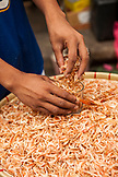 PHILIPPINES, Manila, Qulapo District, dried shrimp for sale at the Quina Market
