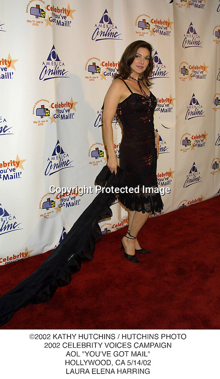 """©2002 KATHY HUTCHINS / HUTCHINS PHOTO.2002 CELEBRITY VOICES CAMPAIGN.AOL """"YOU'VE GOT MAIL"""".HOLLYWOOD, CA 5/14/02.LAURA ELENA HARRING"""