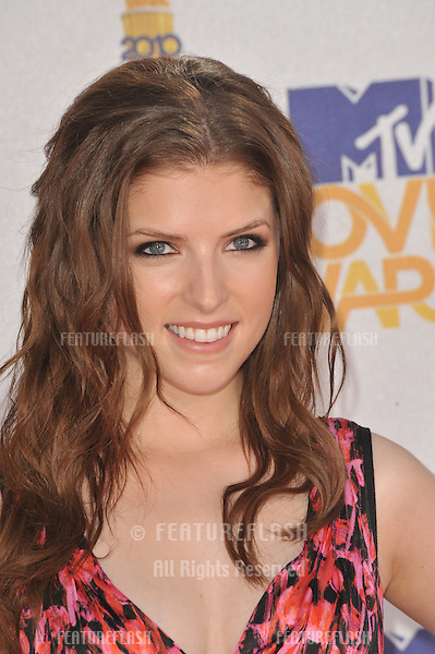 Anna Kendrick at the 2010 MTV Movie Awards at the Gibson Amphitheatre, Universal Studios, Hollywood..June 6, 2010  Los Angeles, CA.Picture: Paul Smith / Featureflash