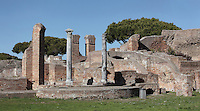 Frigidarium of the Terme del Foro (Baths of the Forum), late 2nd century, Ostia Antica, Italy. Picture by Manuel Cohen