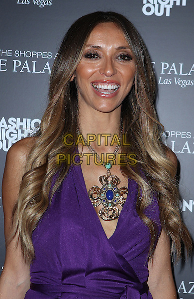 Giuliana Rancic.Giuliana and Bill Rancic host Fashion's Night Out at The Shoppes at the Palazzo, Las Vegas, NV., USA.   .September 8th, 2011.half length dress gold necklace smiling .CAP/ADM/MJT.© MJT/AdMedia/Capital Pictures.