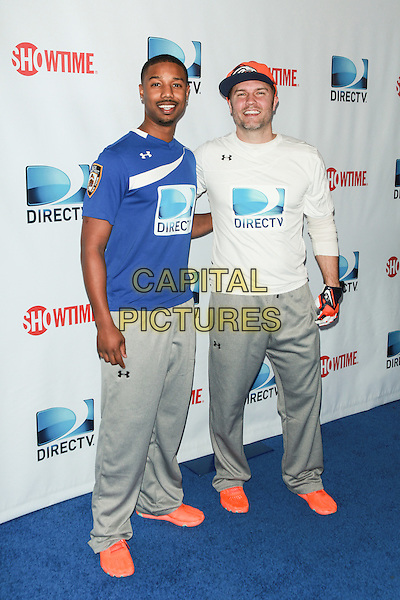 NEW YORK, NY - FEBRUARY 1: Michael B. Jordan, Scott Porter attends the DirecTV Beach Bowl at Pier 40 on February 1, 2014 in New York City. <br /> CAP/MPI/COR<br /> &copy;Corredor99/ MediaPunch/Capital Pictures