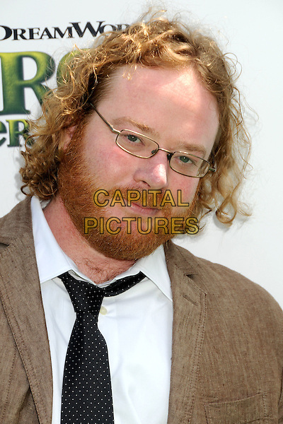 "WALT DOHRN.""Shrek Forever After"" Los Angeles Premiere held at the Gibson Amphitheatre, Universal City, California, USA..May 16th, 2010.headshot portrait brown white black beard facial hair glasses.CAP/ADM/BP.©Byron Purvis/AdMedia/Capital Pictures."