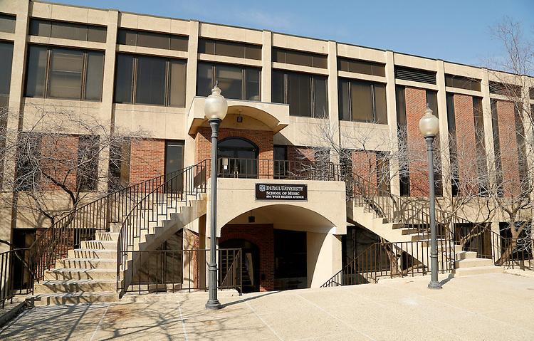 Building exteriors - Lincoln Park Campus - School of Music, 804 West Belden Avenue (DePaul University/Jamie Moncrief)