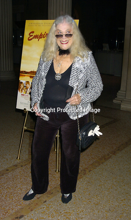"Sylvia Miles..at a screening of HBO Films ""Empire Falls"" at the Metropolitan Museum of Art on May 9, 2005..Photo by Robin Platzer, Twin Images"