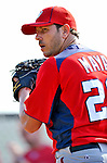 20 February 2011: Washington Nationals' pitcher Yunesky Maya winds up for a pitch during Spring Training at the Carl Barger Baseball Complex in Viera, Florida. Mandatory Credit: Ed Wolfstein Photo