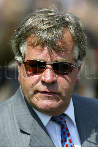 Sir MICHAEL STOUTE, trainer of RUSSIAN RHYTHM, The Princess Margaret Stakes, Diamond Day, Ascot 020727 Photo:Steve Bardens/Action Plus...Horse Racing.2002 trainers portrait