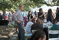 Jonathan Veitch, President of Occidental College.. Black Graduation Celebration at Academic Quad, May 20, 2017.<br /> Cultural Graduation Celebrations are an opportunity for smaller groups to come together and acknowledge students' accomplishments with family and friends while celebrating the rich diversity of our campus. The Office of Intercultural Affairs partners with cultural organizations to coordinate the events.<br /> (Photo by Marc Campos, Occidental College Photographer)