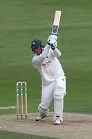 Luke Fletcher hits out for Nottinghamshire during Nottinghamshire CCC vs Essex CCC, Specsavers County Championship Division 1 Cricket at Trent Bridge on 12th September 2018