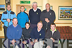GOLF: The Killorglin golfing team who were playing in JB Carr Junior Cup on Saturday at Tralee Golf Club, Front l-r: Denis Brosnan, Rob Kennedy, Jimmy Carthy (capt) and Kevin Lucy. Back l-r: Joe Kennedy, Richard Greer, Pat Nagle and Gerry Fleming..