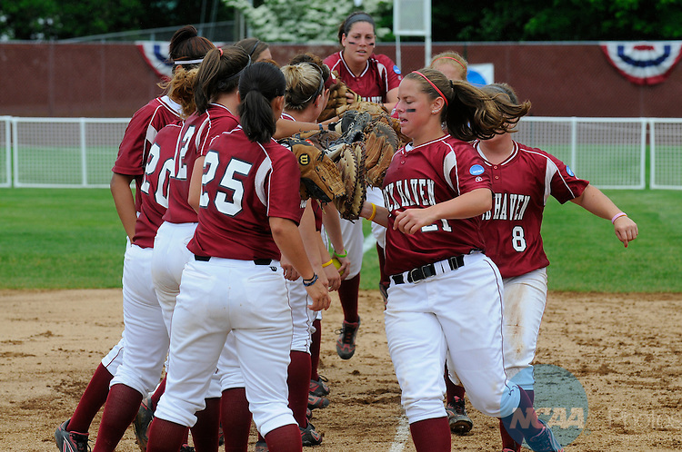 25 MAY 2009:  Lock Haven University takes on the University of Alabama in Huntsville during the Division II Women's Softball Championship held at the James I. Moyer Sports Complex in Salem, VA.  Lock Haven defeated Alabama in Huntsville 8-0 in six innings for the national title.  Andy Alonso/NCAA Photos
