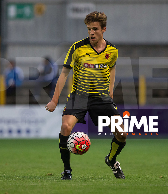 Danilo Orsi-Dadomo of Watford in action during the U21 Professional Development League 2 match between Watford U21 and Hull City U21 at Clarence Park, St Albans, England on 17 August 2015. Photo by Andy Rowland.